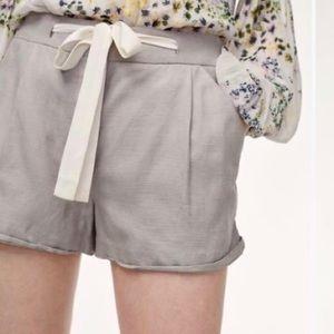 ARITZIA Wilfred Linen Shorts Grey  4